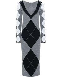 c542d161c9 Lyst - Kenzo Argyle Sweater Dress