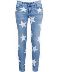 Stella McCartney - Skinny Boyfriend Fringed Stars Jeans - Lyst