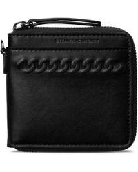 Stella McCartney - Black Eco Alter Nappa Falabella Wallet - Lyst