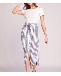 BB Dakota - Stripe I Like Midi Skirt - Lyst