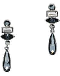 St. John - Swarovski Crystal Drop Earring - Lyst