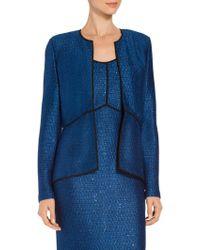 St. John - Luster Sequined Knit Peplum Jacket - Lyst