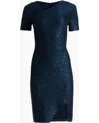 St. John - Shimmer Sequin Knit Asymmetrical Dress - Lyst