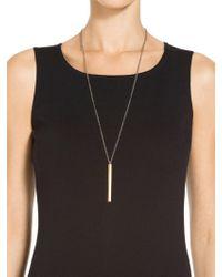 St. John - Metal Pendant Necklace - Lyst
