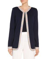 St. John - Coming Soon Milano Knit Jewel Neck Jacket - Lyst