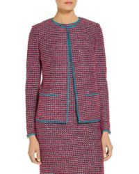 St. John - Velvet Luster Knit Jacket - Lyst