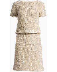 St. John - Gilded Eyelash Knit Short Sleeve Dress - Lyst