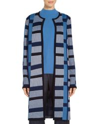 St. John - Sale Spaced Dyed Ombre Color Block Jacket - Lyst