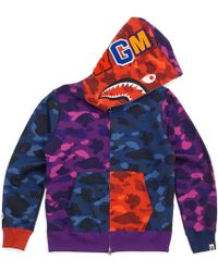 f84c7115 A Bathing Ape Xxv Cities Camo Tiger Full Zip Hoodie Navy in Blue for Men -  Lyst