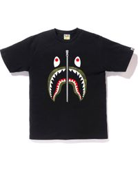 9e7a2531d Lyst - A Bathing Ape Shark Shoulder Tee Black in Black for Men