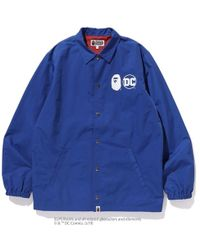 5a2696dab02e Lyst - A Bathing Ape Bape Coach Jacket in Blue for Men