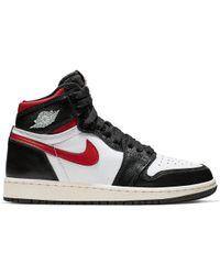quality design f4ba6 0f352 Nike - 1 Retro High Black Gym Red (gs) - Lyst