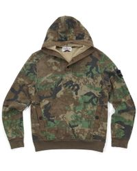 81f0387d8035 Lyst - Supreme Small Box Thermal Zip Up Sweat Woodland Camo in Green ...