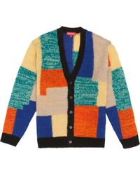 Supreme - Patchwork Mohair Cardigan Multicolor - Lyst