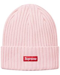 29f701c1d6c Supreme - Overdyed Ribbed Beanie Light Pink - Lyst
