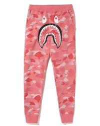 A Bathing Ape - Gradation Camo Shark Slim Sweat Pants Pants (ladies) Pink - Lyst