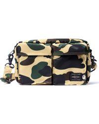dfd20a3f49 A Bathing Ape - X Porter 1st Camo Double Pocket Shoulder Bag Yellow - Lyst