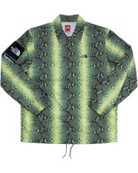 Supreme - The North Face Snakeskin Taped Seam Coaches Jacket Green - Lyst e4a84c017