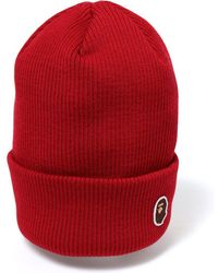 78c3b79c416 Lyst - A Bathing Ape Bathing Ape Fitted Cap in Red for Men