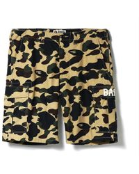 2fd1739e87 A Bathing Ape 1st Camouflage-print Shell Shorts in Yellow for Men - Lyst