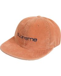 7ce9ef421b9 Lyst - Supreme Corduroy Compact Logo 6 Panel Navy in Blue for Men