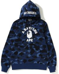 3d09b27c6ec5 Lyst - A Bathing Ape College Pullover Hoodie Gray in Gray for Men
