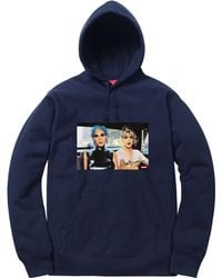 Supreme - Nan Goldin Misty And Jimmy Paulette Hooded Sweatshirt Navy - Lyst