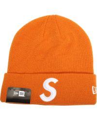 a49b08e2bce Lyst - Stussy Helvetica Pom Beanie Orange for Men