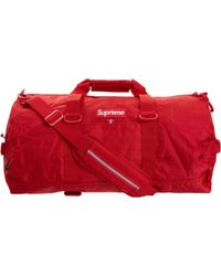 c7d972d2a3fe Lyst - Supreme Large Duffle Bag (ss18) Red in Red for Men - Save 53%