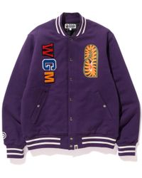 39845b5c A Bathing Ape Text Color Camo Track Jacket Purple in Purple for Men - Lyst
