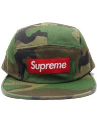 1811458322f Lyst - Supreme Unused! Camouflage Twill Camp Cap 17 Fw Nyco Navy in ...