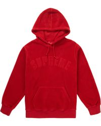 00f38651 Supreme Polartec Hooded Half Zip Pullover Red in Red for Men - Lyst