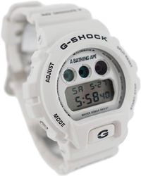 A Bathing Ape - Outline Camo G Shock White - Lyst