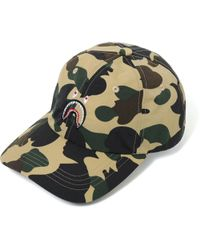 1819fe0290a Lyst - A Bathing Ape Shark Cotton Snapback Cap in Red for Men