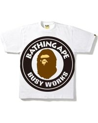 7fe269bc A Bathing Ape Rainbow Busy Works Tee Black in Black for Men - Lyst