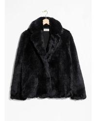 & Other Stories - Faux Fur Coat - Lyst