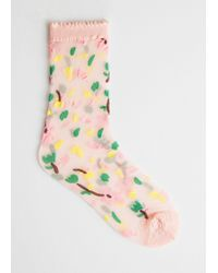 & Other Stories - Sheer Floral Socks - Lyst