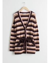 & Other Stories - Striped Belted Cardigan - Lyst