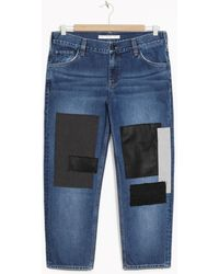 & Other Stories - Patched Denim Jeans - Lyst