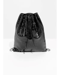 & Other Stories - Leather Croco Backpack - Lyst