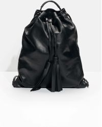 & Other Stories - Tasselled Leather Backpack - Lyst