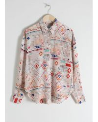 & Other Stories - Southwest Print Silk Button Up - Lyst