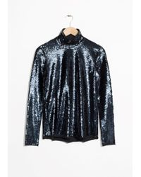 & Other Stories | Sequined Turtleneck Top | Lyst