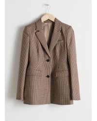 & Other Stories - Hourglass Houndstooth Blazer - Lyst