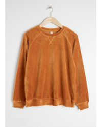 & Other Stories - Velour Sweatshirt - Lyst