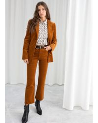 & Other Stories - Kick Flare Corduroy Trousers - Lyst