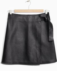 & Other Stories - Wrap Leather Skirt - Lyst
