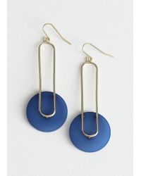 & Other Stories - Hanging Duo Shape Earrings - Lyst