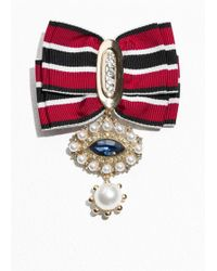 & Other Stories - Ribbon Brooch - Lyst