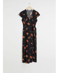 & Other Stories - Hem Midi Wrap Dress - Lyst